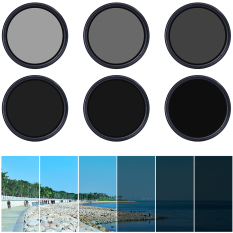 62mm Slim Fader Variable ND Filter Adjustable ND2 To ND400 For DSLR Lens
