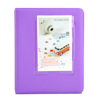 64 Pockets Mini Camera Photo Album Instant Camera (Purple)