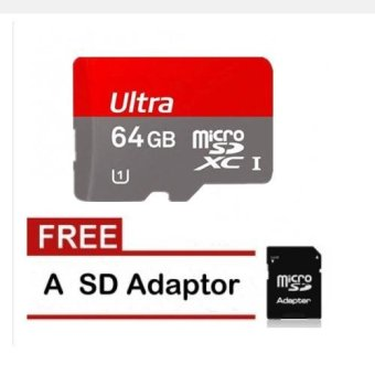 64GB Class 10 Micro Memory SD Card with Adaptor for Phone andCamera - With Adapter and