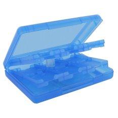 71.12 Cm 1 Plastik Pelindung Permainan Video Kotak Penyimpanan Memori Kartu SD Pemegang Kasus Untuk Nintendo NDS NDSi II 2DS 3DS XL New 3DS LL 3DS XL Diterima (Biru)