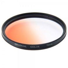 72mm High Quality Gradient Camera Lens Filter Gradual Orange - Intl