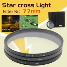 77mm 4 6 8 Point Star Filter Kit 4.6X 8X Star Filter Kit With Free Case