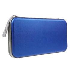 80 Discs CD DVD VCD DJ Storage Organizer Holder Case Bag Box Zipper Album Pouch (Blue)