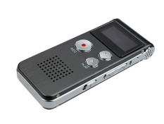 8GB Digital Audio Voice Recorder Rechargeable Dictaphone Telephone MP3 Player (Grey)