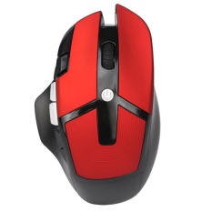 A875 Wireless Optical Gaming Mouse 2,400 DPI for Laptop PC(Red) - intl