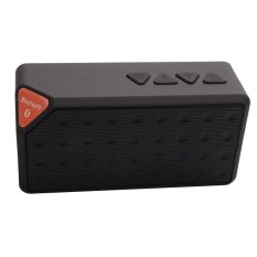 Acediscoball X3 Mini Speaker Bluetooth TF USB FM Wireless Portable Music Sound Box Loudspeaker Subwoofer with Mic (Black)