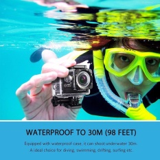 Action Camera 2-inch LCD Wifi Waterproof Sports Cam DV Camcorder Outdoor for Bicycle Motorcycle Diving Swimming Sliver with Free Accessories Kit_black - intl