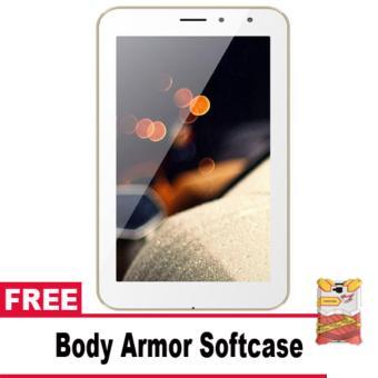 Advan Vandroid I7A Bima Tablet 4G LTE – 8GB – White + Free Body Armor Softcase