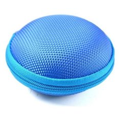 Ai Home Carrying Hard Case Storage Bag For Earphone Headphone SD Card (Blue)