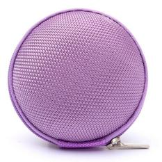 Ai Home Carrying Hard Case Storage Bag For Earphone Headphone SD Card (Purple)