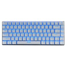 Ajazz-Firstblood Double Color Injection Keycaps Gaming Keyboard, 82 Classic Layout Keys, Black Switches AK33-White - Intl