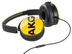 AKG Y50 On-Ear Headphone with In-Line One-Button Universal Remote / Microphone - Yellow