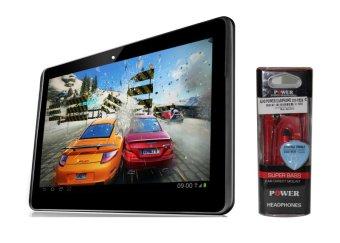 ALDO Tablet T33 – Hitam + Earphone Merah