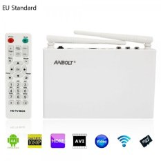 Anbolt LD-T6 1 + 8GB Android 4.4 RK3066 Dual Core Dual USB Smart TV Box With HDMI Cable (EU Standard) (White) - Intl