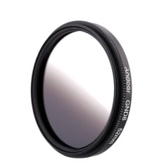 Andoer 52mm Circular Shape Graduated Neutral Density GND8 Graduated Gray Filter For Canon Nikon DSLR Camera