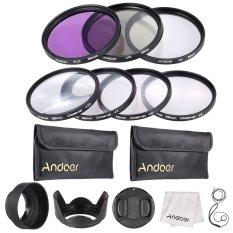 Andoer 58mm UV + CPL + FLD + Close-up (+ 1 + 2 + 4 + 10) Camera Lens Filter Kit