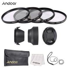 Andoer 67mm Lens Filter Kit (UV + CPL + Star + 8 + Close-up + 4) With Lens Cap + Lens Cap Holder + Tulip & Rubber Lens Hoods + Cleaning Cloth