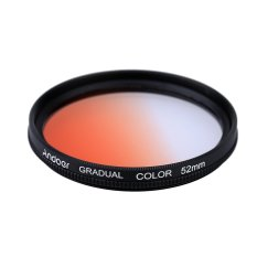 Andoer GND Graduated Orange 52mm Filter Graduated Neutral Density Filter For Canon Nikon DSLR 52mm Camera Lens