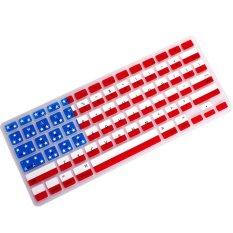 "AOXINDA FLAG Keyboard Silicone Cover Skin For Macbook Air / Macbook White 13.3"" / MacBook Pro 13.15.17"" Aluminum Unibody - Intl"