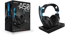 ASTRO A50 Gen3 Gaming Wireless Dolby Headset PS4 / PC - Black / Blue - Intl