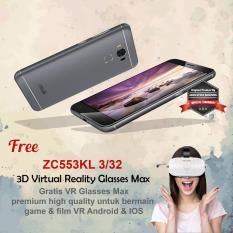 Asus Zenfone 3 Max ZC553KL 3/32 4G + Free VR Glasses Garansi Resmi