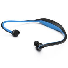 Audew Stereo Sport Headset Headphone MP3 Music Player Micro SD TF Slot Blue