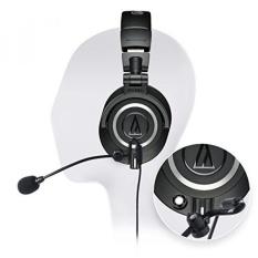 Audio-Technica ATH-M50x Professional Studio Headphone - INCLUDES - Antlion Audio ModMic Attachable