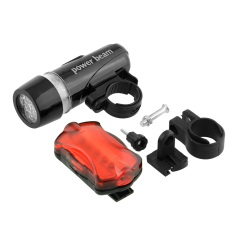 Aukey Bright Fog Lamp Road Bicycle MTB Front Light + Rear Flashlight