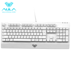 AULA OFFICIAL Wings Of Liberty Mechanical 104keys Gaming Keyboard Waterproof (White)