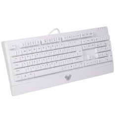 Aula Wings Of Liberty Series PS2 Wired Multi-media Silent / Non-slip Game Keyboard (White)
