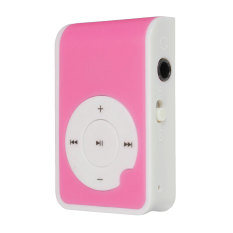 Autoleader Mirror Clip USB Digital Mp3 Music Player Maximum Support 8GB TF Card Pink (Intl)