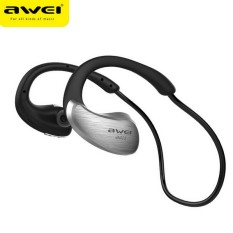 Awei A885BL NFC HiFI Waterproof Wireless Bluetooth Headsets V4.0 Earphones Voice Control In-ear Earbuds With Mic (Silver)