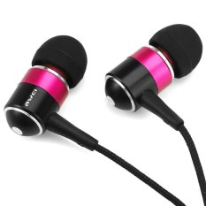 Awei ESQ3 Noise Isolation In-ear Earphone with 1.2m Cable For Smartphone Tablet PC (Pink) (Intl)
