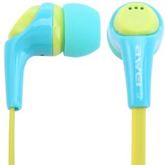 Awei ESQ6i Super Bass In-ear Earphone with 1.2m Cable Mic Next Song For Smartphone Tablet PCOºaBlueOºa