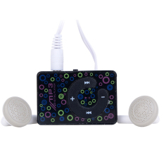 Azone Easy To Clip-on Mini Clip USB MP3 Music Media Player with Micro TF / SD Card (Black)