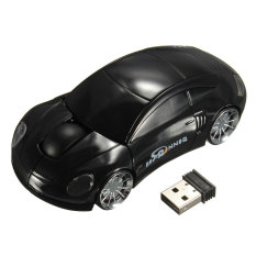 Bestrunner 2.4GHz Wireless USB Optical Car Mouse Mice Cordless For PC Laptop (Black) (Intl)