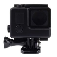 Black Edition Waterproof Housing Protective Case with Buckle Basic Mount For GoPro HERO4/3 +, Waterproof Depth: 45m (Black)