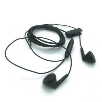 BlackBerry Original Earphone Stereo With Control Talk - Hitam