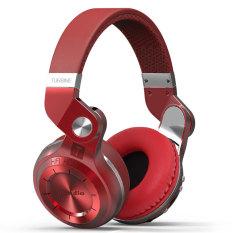 Bluedio T2 Plus Turbine Wireless Bluetooth Headphones With Mic / Micro SD Card Slot / FM Radio (Red) - Intl