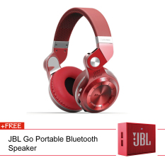 Bluedio T2 + Stereo Wireless Bluetooth 4.1 With Micro SD Slot (Red) + JBL Speaker (Red)