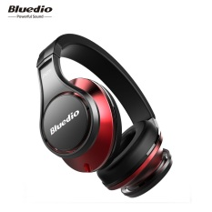Bluedio UFO Bluetooth Headphones Wireless Headset With Microphone (Black / Red)