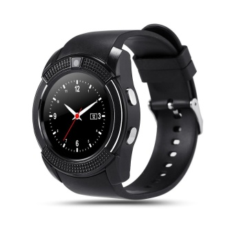 Bluetooth Smart Wrist Watch SIM Phone Mate for IOS Android Smartphone Black - intl