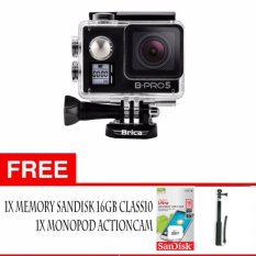 BRICA B-PRO 5 Alpha Edition Mark IIs (AE2s) 4K WIFI Action Camera - Hitam + Gratis aksessories kameras