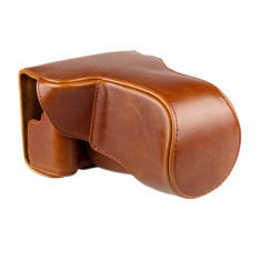 Brown PU Leather Camera Case Cover Bag Pouch For Canon EOS-M3 with Strap (Intl)