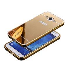 Bumper Case Mirror Untuk Samsung Galaxy J7 2016 ( J710 ) GOLD