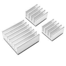 Buytra 3PCS One Set Aluminum Heatsink Cooler Adhesive Kit For Cooling Raspberry Pi