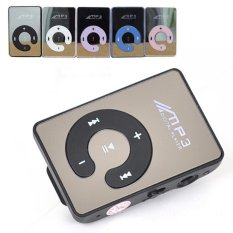 C-Logo MP3 Player TF card with Small Clip - Hitam