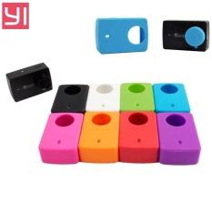 Camera Silicone Case + Lens Cap Cover For Xiaomi Yi 2 4K Silicon Case