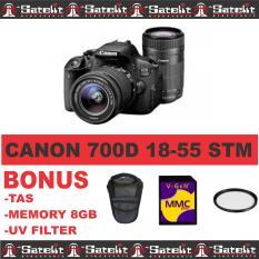 Canon - Camera 700D 18-55 Stm+Memorycard8Gb+Tas+Filter - hitam