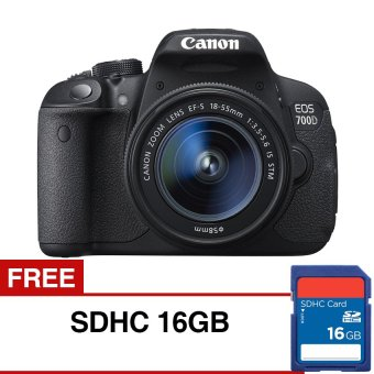 Canon EOS 700D DSLR Lensa Kit EF-S18-55mm with IS STM - Hitam